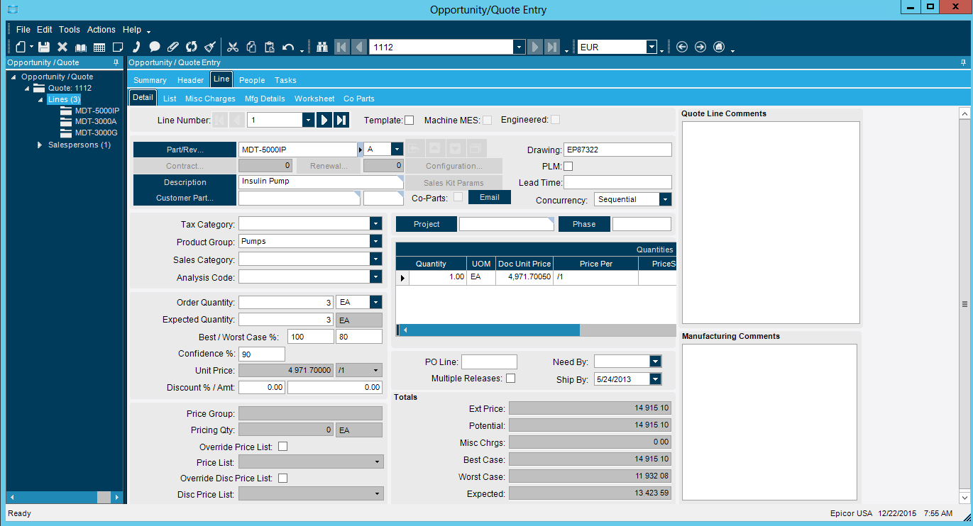 Epicor Erp And Crm Managing The Configure Price Quote
